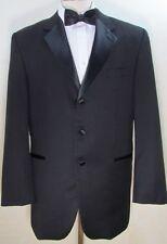 LORO PIANA Fabric Super 120's Wool Black Men's Tuxedo Jacket 44 L Long