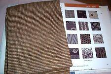 Vtg Antique 1860's 1880's 19c Cotton Fabric Small Scale Design Brown