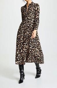 BAUM UND PFERDGARTEN Alham Leopard Dress Size 12 New Without Tags RRP £199