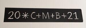 """Aufkleber """"Christus segne dieses Haus"""" 20*C+M+B+21 schwarz mit weißer Schrift"""