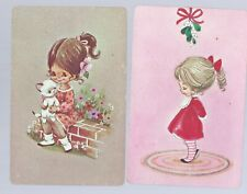 Vintage Swap Playing Cards   Girls