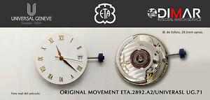 Original Bewegung Eta 2892 A2 / UNIVERSAL UG.71 - Schweizer Gemacht - Ohne Marke