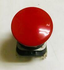 Allen Bradley 800T Momentary N/O & N/C RED Aluminum Mushroom Push Button Switch