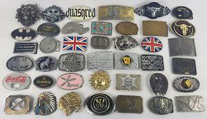 Large Metal Belt Buckle Bundle, Random Job Lot, Collection.