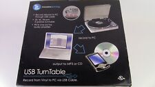 IT INNOVATIVE TECHNOLOGY USB TURNTABLE ITUT-400 VINYL RECORDS TO MP3 ((