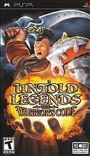 Untold Legends - The Warrior's Code, Sony PSP Playstation Portable, Complete