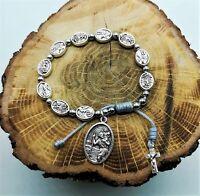 St Michael Archangel / Saint Christoper Medal Bracelet Catholic Rosary Chaplet