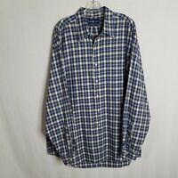 Polo Ralph Lauren Blake Mens Plaid Button Front Long Sleeve Shirt Size XL SD113