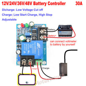 12V~48V Battery Low Voltage Cut Off Protection Board Charger Controller Module