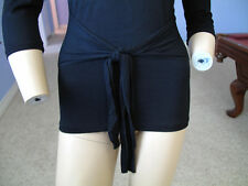 Bebe BLK Nora Waist Tie Front Rhinestone Logo Top NWT$44~S~Only One~