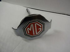 MGB MGC WIRE WHEEL SPARE WHEEL CLAMP CHROMED WITH FREE MG BADGE