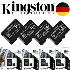KINGSTON micro SD Karte + ADAPTER 100MB/s A1 Speicherkarte 16GB 32GB 64GB 128GB