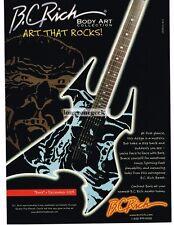 2003 B.C. RICH Beast BORVIS Electric Guitar Body Art Collection Advertisement