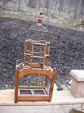 Victorian Style Wood Bird House Cage Dome Top Wooden Very Decorative Metal Bars