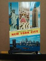 GREETINGS FROM NEW YORK CITY Alfred Mainzer 1959 3-cent Liberty stamp