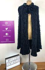 Vintage 80s Frank Usher Knitted Fluffy Chenille Cardigan Jacket Upto Size 16