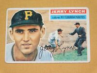 VINTAGE OLD 1950S BASEBALL 1956 TOPPS CARD JERRY LYNCH PITTSBURGH PIRATES