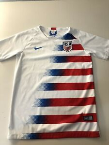 White Nike Team USA Soccer Jersey Youth L Large