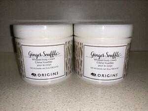 X2 NEW ORIGINS Ginger Souffle Whipped Body Cream Travel Size 3oz/90mL Each