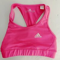 Adidas Womens Solid Pink Sleeveless Running Top Athletic Size SMALL