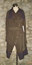 WILLOW & CLAY Striped Army Military Coat Jacket OLIVE GREEN Small NWT $130 MSRP