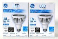 2 Ct GE LED Low Glare 18w PAR 30L 25 Narrow Flood 1400 Lumens Energy Star Bulb