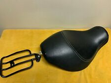 OEM Harley Davidson Sportster Solo Seat Saddle with Black Luggage Rack