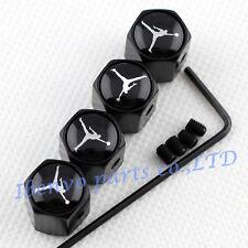 Anti-theft Black Metal Car Wheel Tyre Tire Stem Air Valve Cap For Dunking Jordan