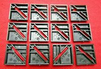 Warhammer Quest Board Game 12 Original Square 20mm Slotta Bases New GW 1984