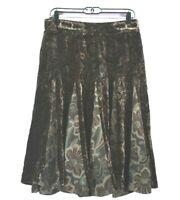 Ann Taylor Loft Women's Size 6 Below Knee Silk Blend Paisley Skirt Pants Bottoms