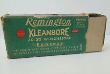 Remington Express 30-30 Winchester Vintage 2 Pieces Empty Ammo Box