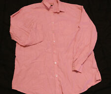 Women Thomas Pink London Pink White Striped Long Sleeves Button down shirt Sz 2