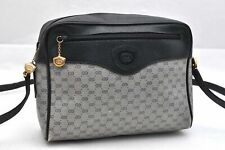 Authentic GUCCI Micro GG PVC Leather Shoulder Bag Navy 95572