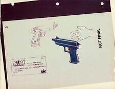 "G.I. Gi Joe Cobra Laser Weapon (Bullhorn) Model Cel ""Photo"" 80-90's Cartoon Dic"