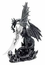 "13"" Fantasy Dragon Knife Dagger 8"" Blade Collectible Display Obsidian Athame"