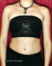 Lip Service *Rare* Millennium Moon Cyber Goth Punk Tribal Tube Top Bl/Bl XL