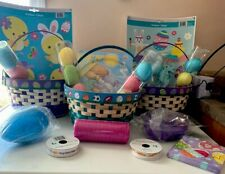 Easter Baskets Eggs Window Clings Puzzle Ribbon Bunnies