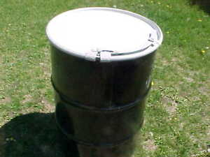 55 gallon Metal steel barrel barrels open top removable drum drums PICK UP ONLY!