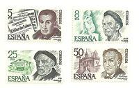 (1978) PERSONAJES ESPAÑOLES (EDI. 2456 A 2459)