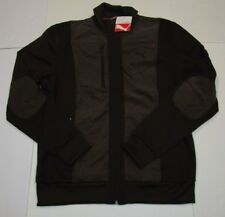 Nwt Mens Puma Brown Plaid Dressy Track Jacket Large $90