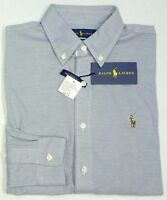 NWT $98 Polo Ralph Lauren LS Gray KNIT Oxford Grey Shirt Mens Cotton NEW