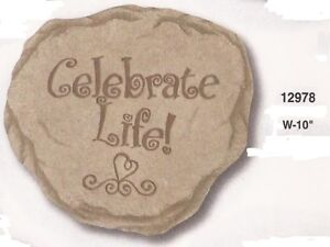 Celebrate Life Resin Stepping Stone Wall Plaque, NIB [12978] OoP by Spoontiques