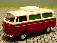 1/87 Brekina VW T2 Camper Hubdach elfenbein/rotmetallic Sondermodell Reinhardt