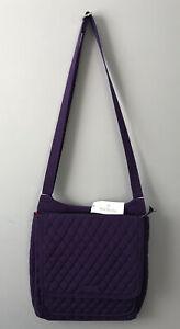 NWT Vera Bradley Mailbag Quilted Double Zip Bag Purse Elderberry Purple $115