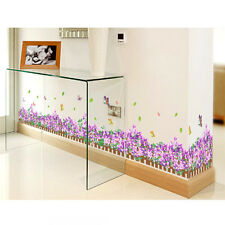 Wall Sticker Purple Flower Wall&paper Mural Removable Living Room Home Decal