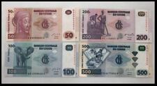 Congo 50 100 200 500 Francs (UNC) 全新 刚果 50 100 200 500法郎