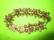 2 Metal Chains Very Good Vintage Brass Angel Charm Bracelet on