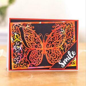 Metal Cutting Dies Butterfly DIY Background Frame Scrapbooking Embossing Crafts