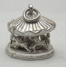 3D STERLING SILVER MOVABLE ROUNDABOUT CHARM