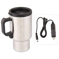 12V Termo Taza Electrico Calentador pa Cafe Mechero Coche Viaje M7M4